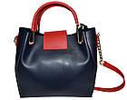 Женская синяя сумка Michael Kors (26*27*13), фото 2