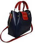 Женская синяя сумка Michael Kors (26*27*13), фото 3