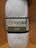 100% акрил (100г/300м) YarnArt Elite 150(белый)