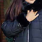 Женское зимнее пальто больших размеров с экомехом тренд 2019 - (модель кт-291), фото 2