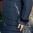 Женское зимнее пальто больших размеров с экомехом тренд 2019 - (модель кт-291), фото 3