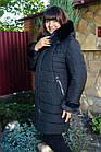 Женское зимнее пальто больших размеров с экомехом тренд 2019 - (модель кт-291), фото 4
