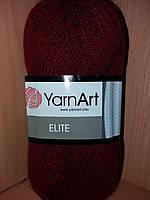 100% акрил (100г/300м) YarnArt Elite 43(бордо)
