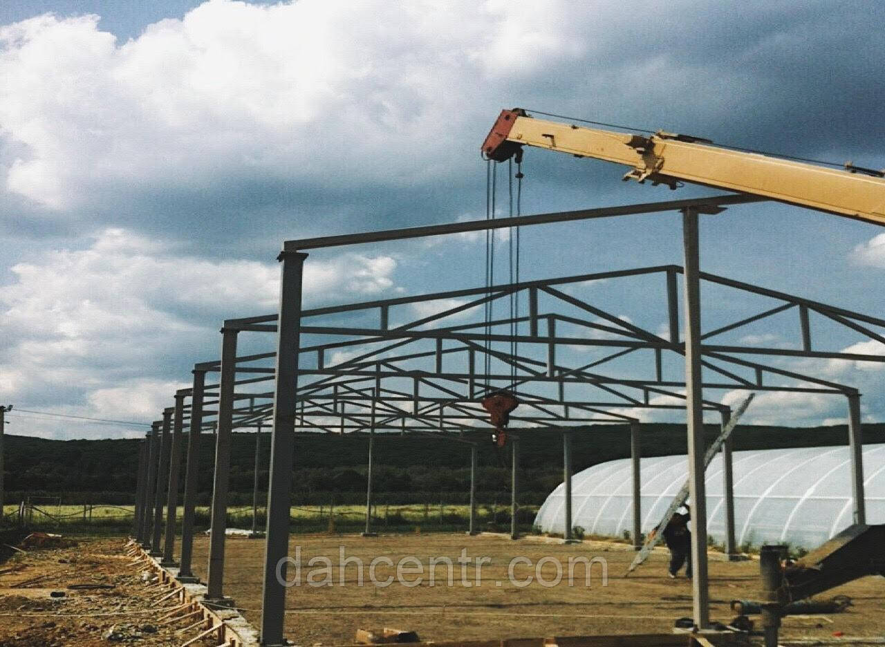 Склад 16х54х4 ангар, навес. фермы, стойки, под цех, зерно, сто, здание.
