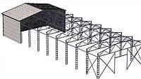 Ангар 18х60х8 под производство, склад. Фермы, навес, каркас, цех, сто
