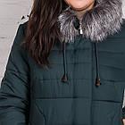 Женское теплое пальто с экомехом батал - (модель кт-320), фото 2
