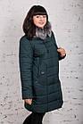 Женское теплое пальто с экомехом батал - (модель кт-320), фото 4