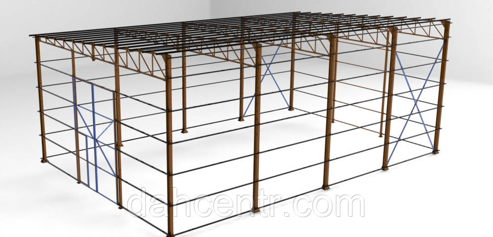 Односкат ангар 14х36 склад, навес, крыша, фермы, цех, производство,сто