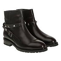 dc1521614fbf Ботинки женские Attico (черные с бордовым переливом на носке и пятке,  модные, кожаные