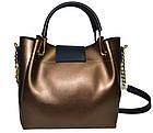 Женская бронзовая сумка Michael Kors (26*27*13) , фото 2
