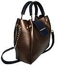 Женская бронзовая сумка Michael Kors (26*27*13) , фото 3