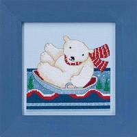 Набор для вышивки Mill Hill Polar Slide Полярное катание