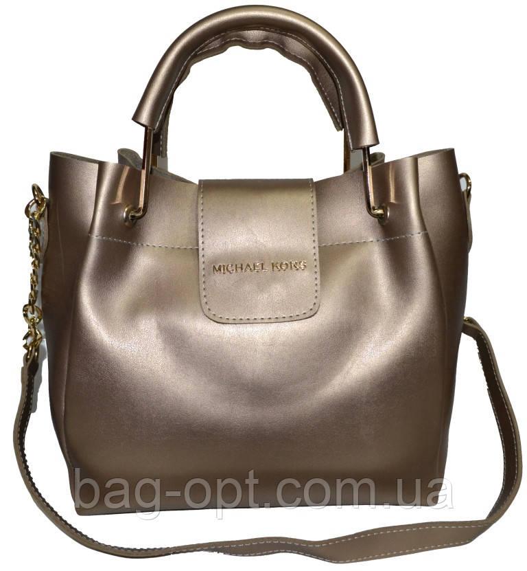 Женская золото сумка Michael Kors (26*27*13)