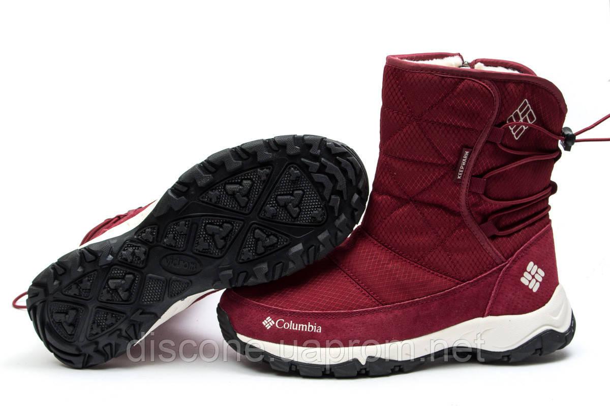 Зимние ботинки ► Columbia Keep warm,  бордовые (Код: 30283) ►(нет на складе) П Р О Д А Н О!