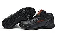 Зимние кроссовки на меху Reebok Classic, черные (30311), р.  [  44 (последняя пара)  ]