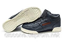 Зимние кроссовки на меху Reebok Classic, темно-синий (30312), р.  [  43 45 46  ]