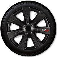 Колпаки VR Carbon Black R16 (черные со спицами под карбон)