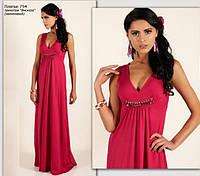 Сексуальное красное длинное вечернее платье