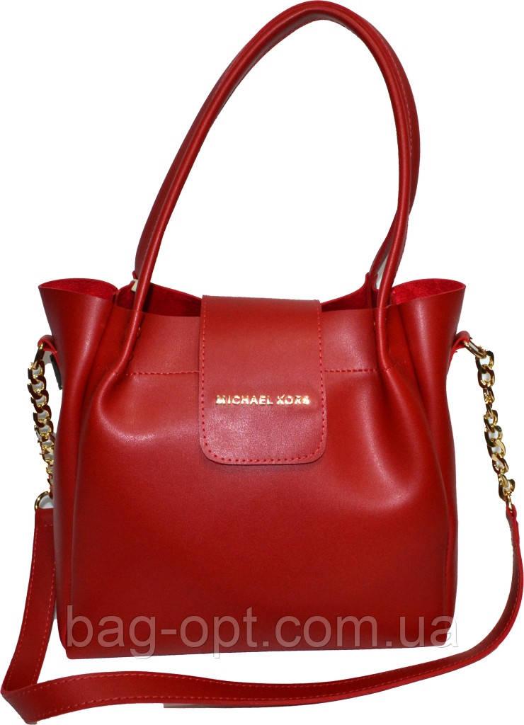 Женская красная сумка Michael Kors (26*27*13)
