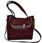 Женская бордовая сумка Michael Kors (26*27*13), фото 2