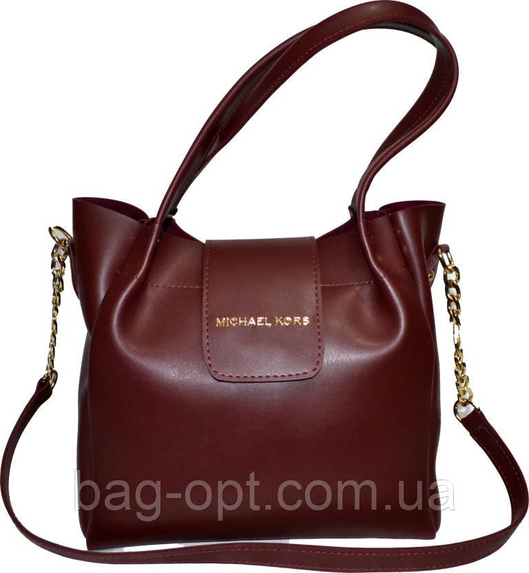 Женская бордовая сумка Michael Kors (26*27*13)