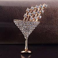 Брошь женская Cocktail