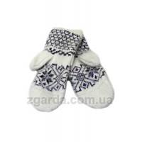 Ангоровые белые женские рукавицы