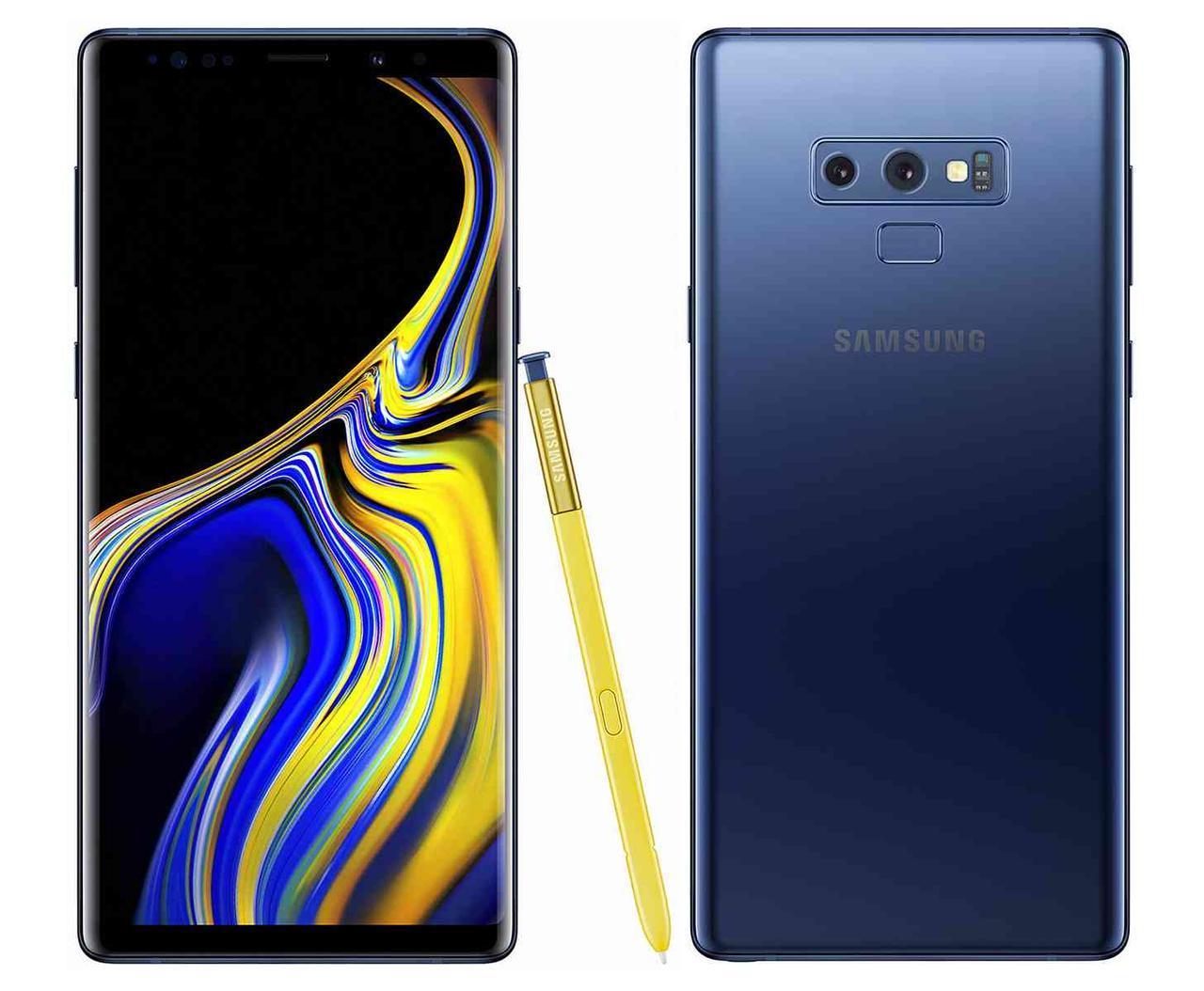 Смартфон Samsung N960FD Galaxy Note 9 6/128GB Ocean Blue Duos 4000 мАч Samsung Exynos 9 9810