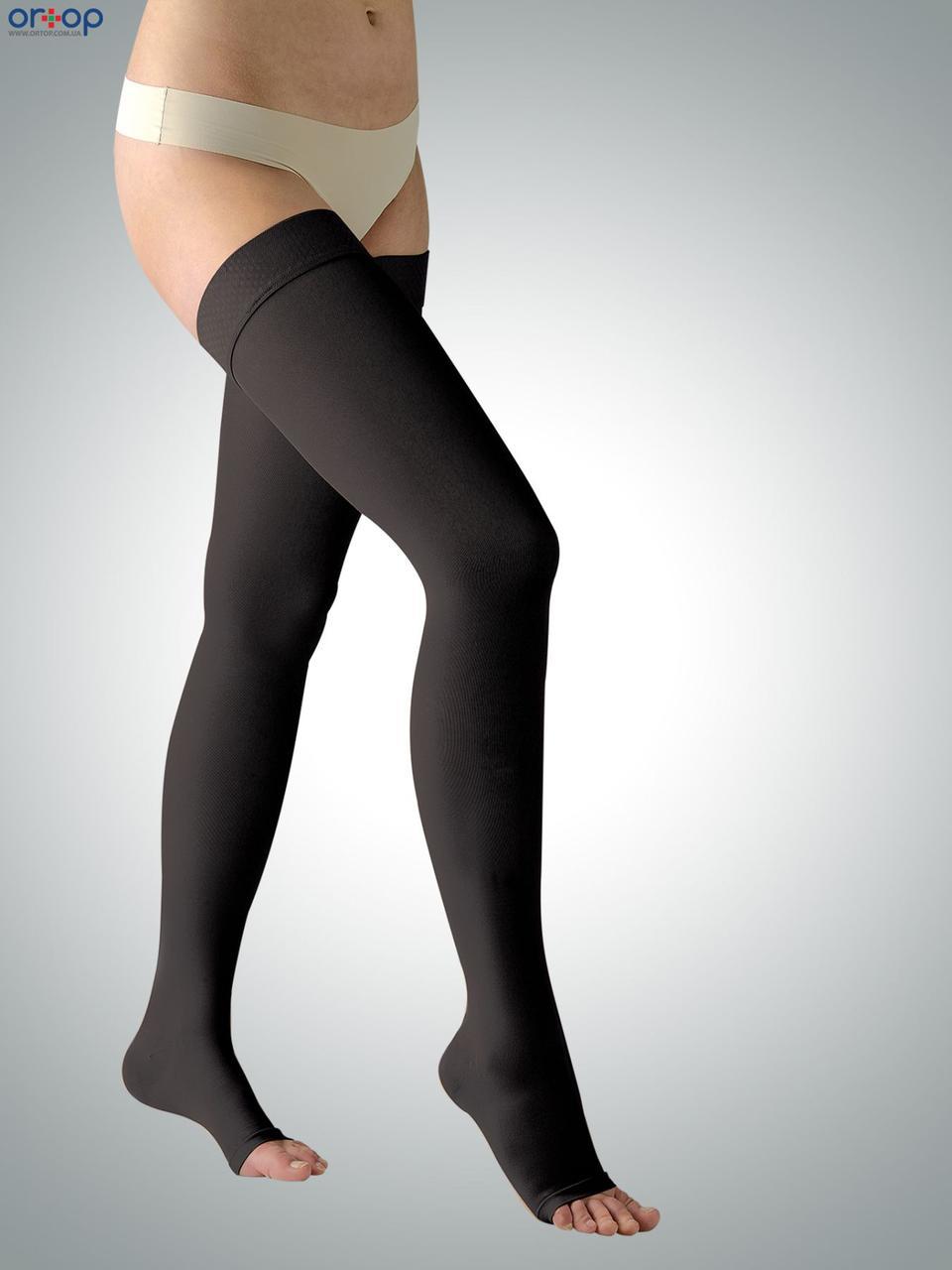 Чулки ARIES Avicenum (2 класс компрессии), открытый носк, рост - стандартный, цвет черный, размер 1