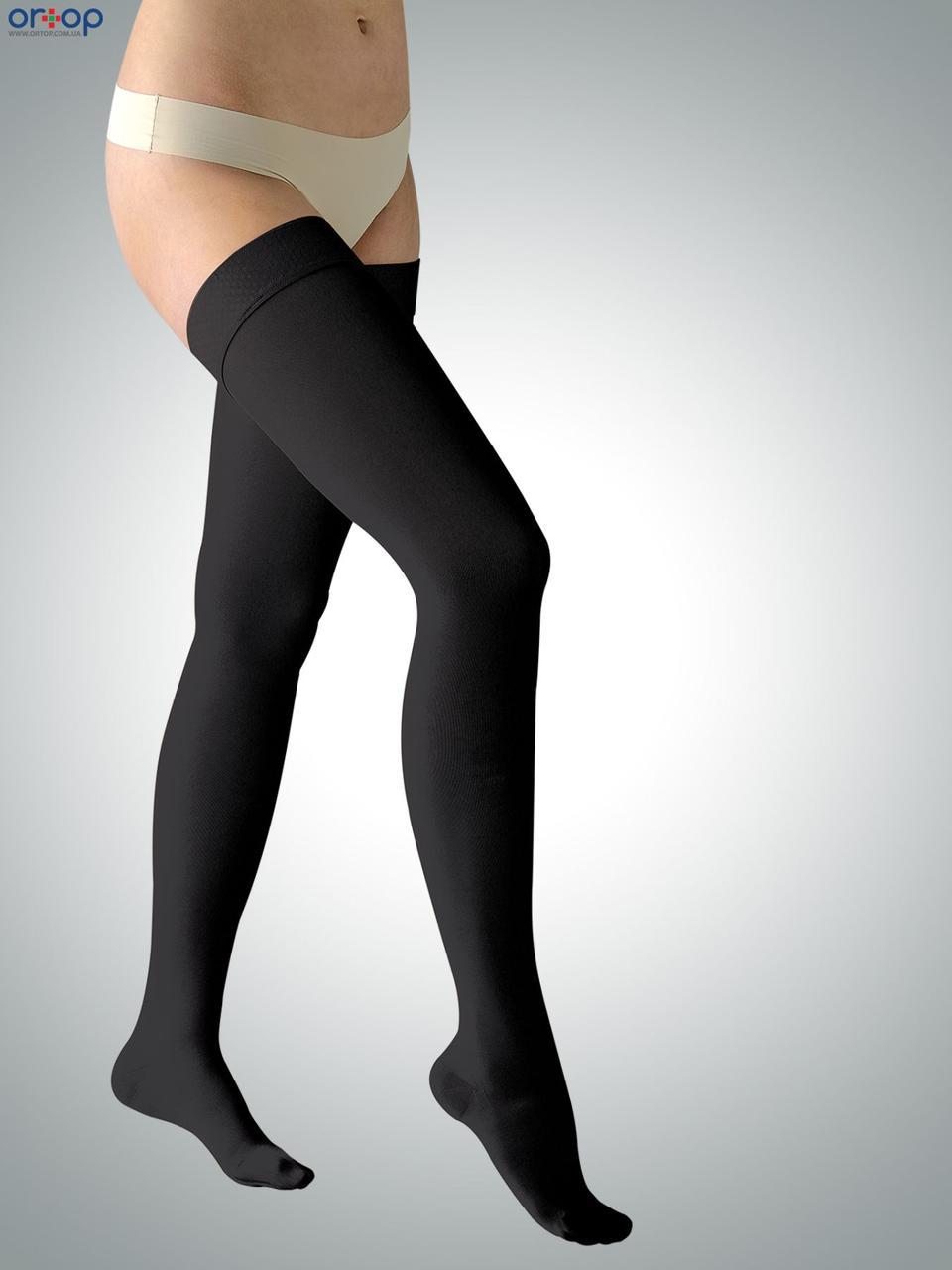 Чулки ARIES Avicenum (2 класс компрессии), закрытый носок, рост - стандартный, цвет черный, размер 1