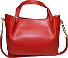Женская красная сумка из натуральной замши Michael Kors (27*32*14), фото 2