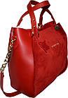Женская красная сумка из натуральной замши Michael Kors (27*32*14), фото 3
