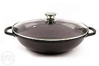 Сковорода WOK черная керамика 32см MAESTRO (MR-4832)