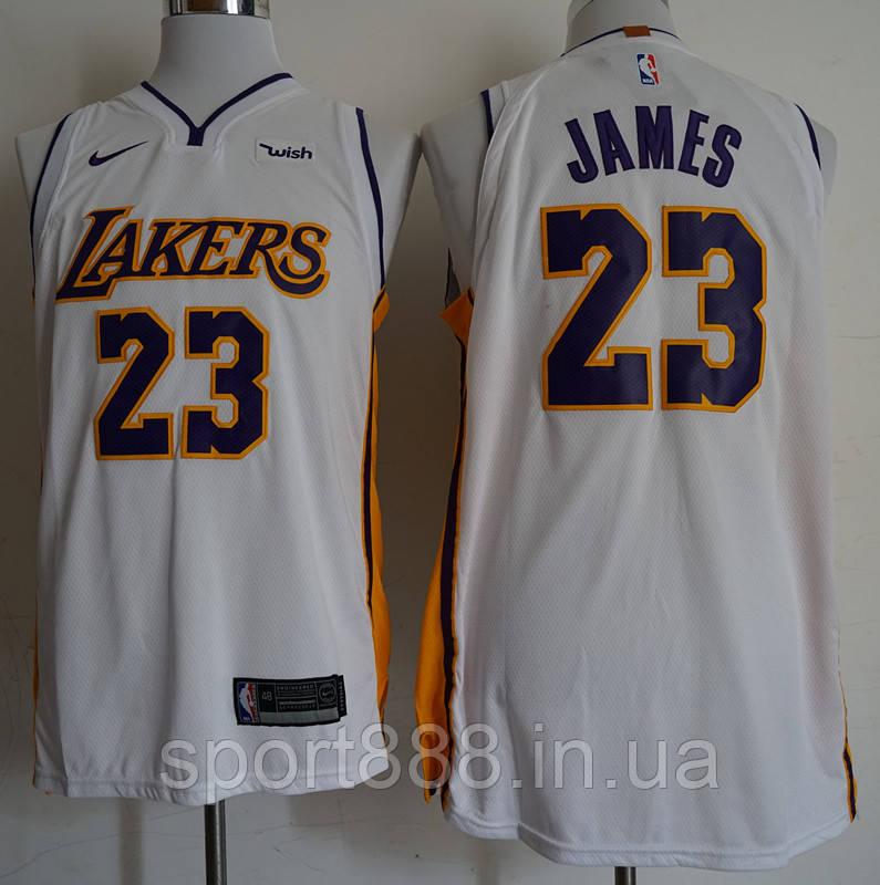 1100cc85 Топ вышивка мужская майка Nike Los Angeles Lakers NBA Lebron James №23 -  sport888 в