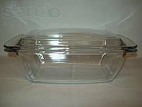 Кастрюля-гусятница с крышкой жаростойкое стекло 2,3 литра А+ 1083