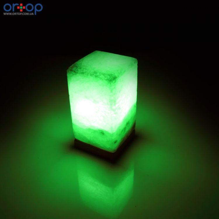 Соляная лампа SALTKEY BLOCK (Прямоугольник) green 2-3 кг