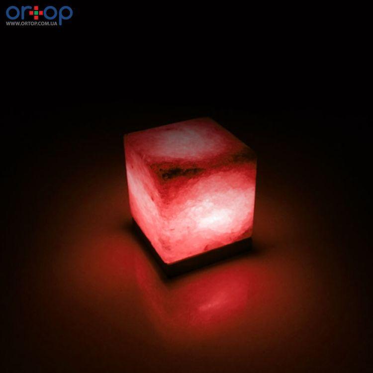 Соляная лампа SALTKEY CUBE (Куб) red 3,5-4 кг