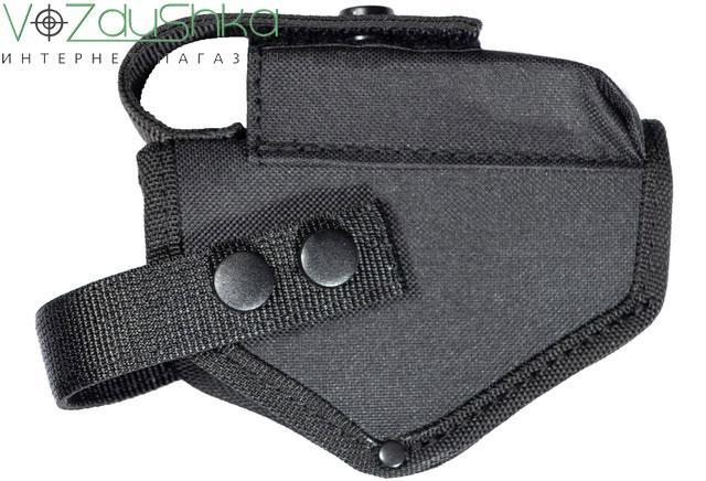 Поясная синтетическая черная кобура для пистолета Форт 12