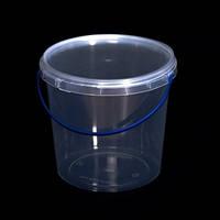 Ведро пластиковое 1л, прозрачное