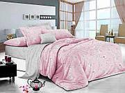 """Двухспальный комплект постельного белье """"Цветы на розовом"""""""