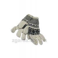 Ангоровые женские перчатки с гуцульским узором