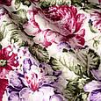 Красивые шторы с цветами малиновый, фото 2