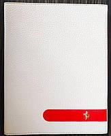 Чехол-книжка для Apple iPad 2, iPad 3, iPad 4, кожаный, Ferrari, Белый /flip case/флип кейс /айпад