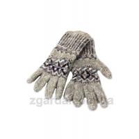 Женские перчатки из ангоровой шерсти с гуцульским узором