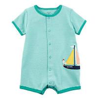 Ромпер песочник для мальчика Carters чайка на яхте