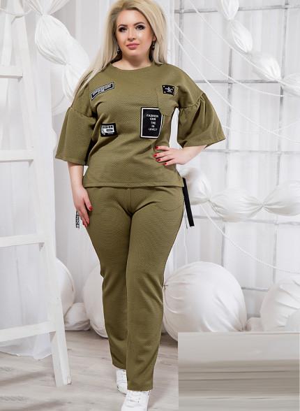 ef5d9871b597 Купить Прогулочный костюм большого размера с карманом 820863 Украина ...