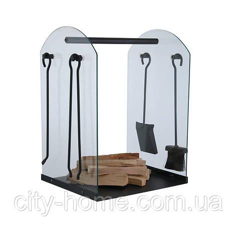 Каминный набор с подставкой для дров., фото 2