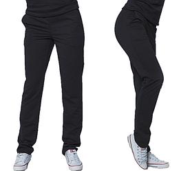 Штани демісезонні чорні спортивні штани жіночі трикотажні прямі