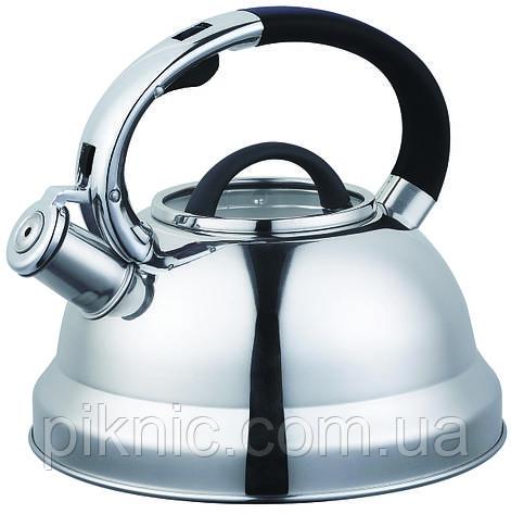 Чайник со свистком 3 литра из нержавеющей стали., фото 2