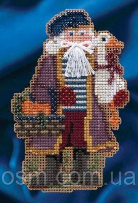 Набор для вышивки Mill Hill Joyeux Noel Santa